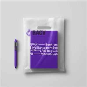 教育培训机构VI塑料包装袋样机