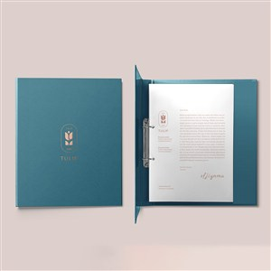 酒店品牌VI文件夹样机