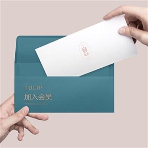酒店品牌VI信封信纸样机