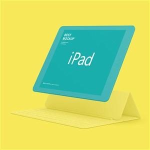 黄色背景苹果ipad样机
