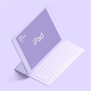 带键盘的炫彩苹果ipad样机
