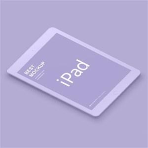 紫色苹果ipad样机