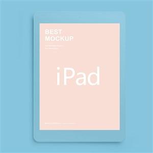 蓝色苹果ipad样机