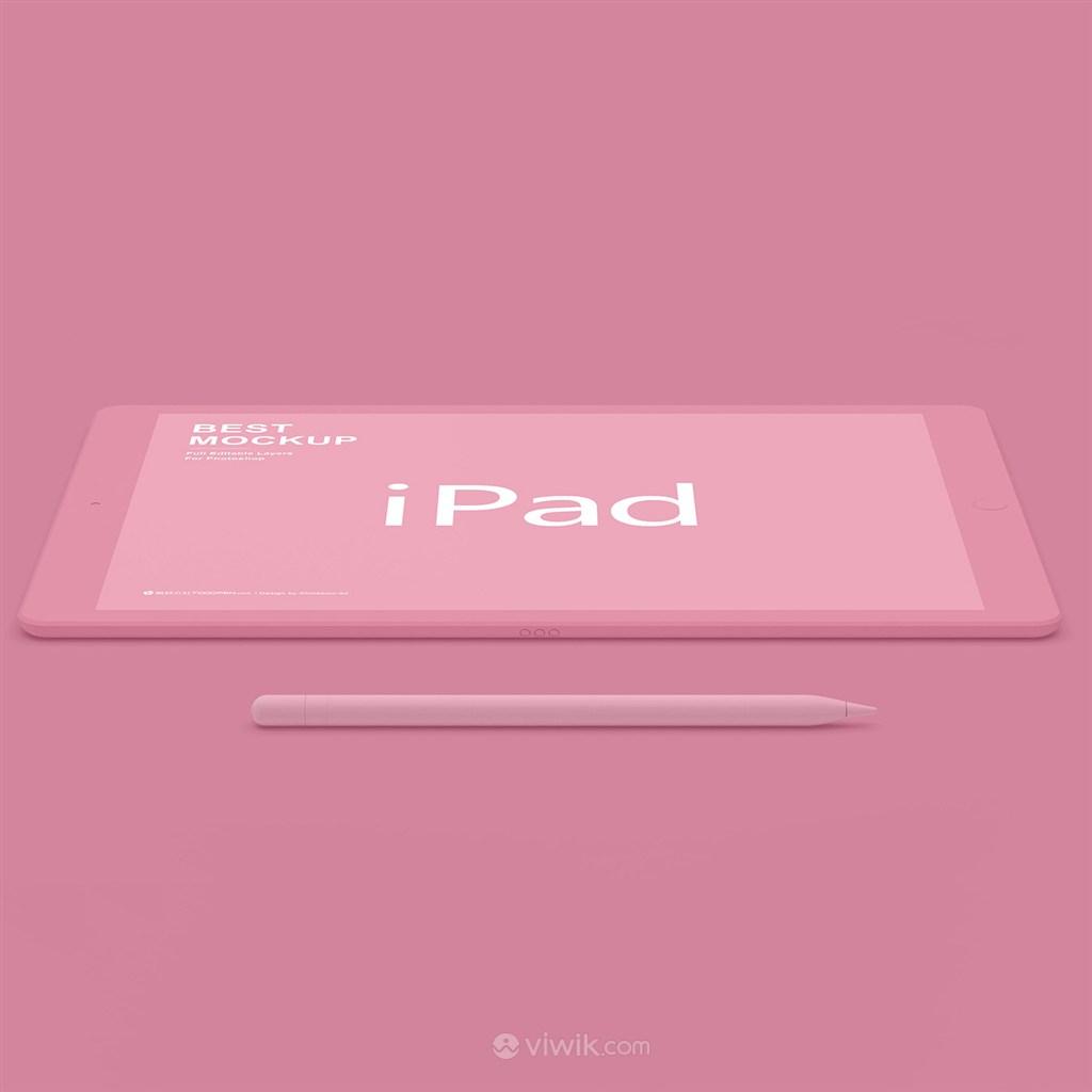 红色苹果ipad样机