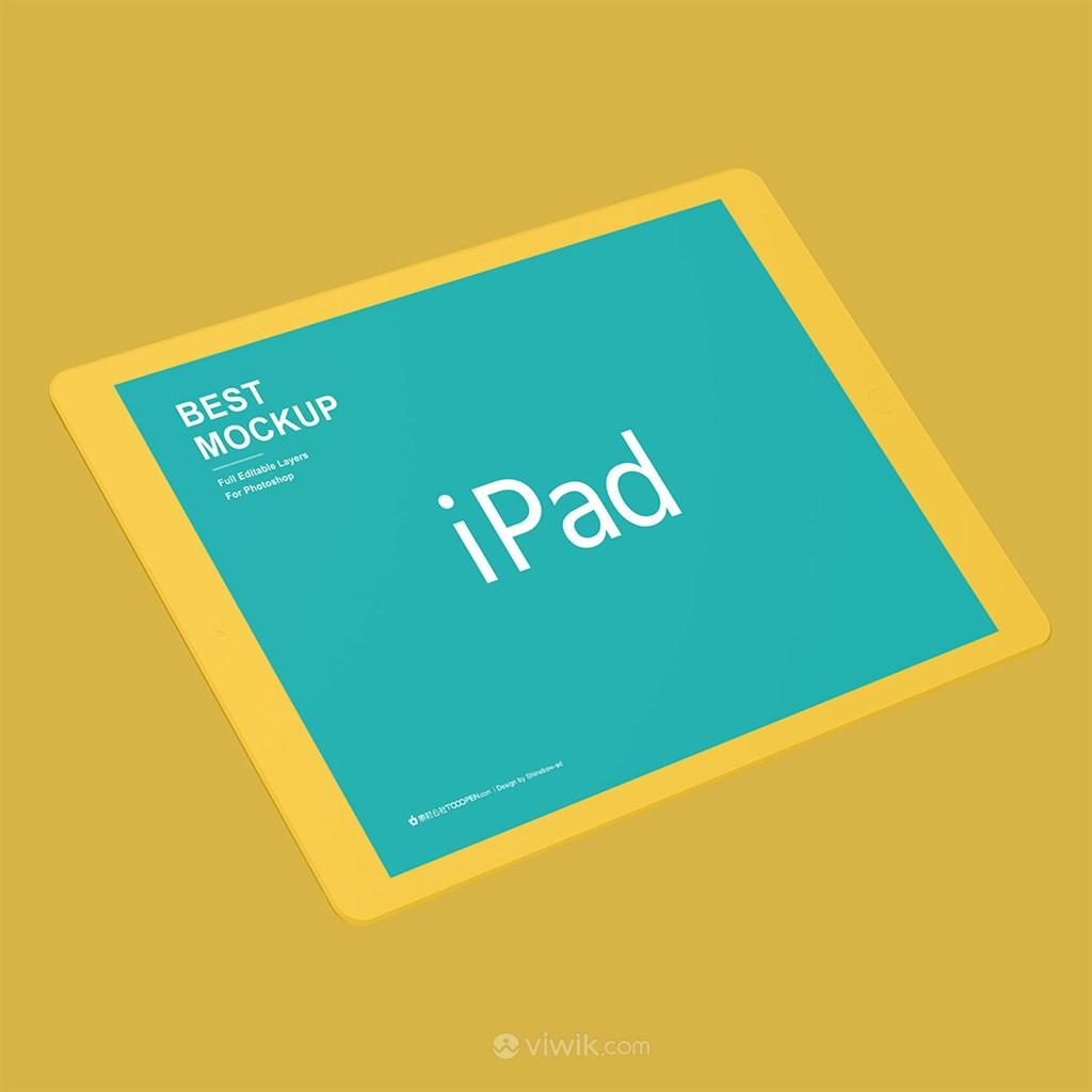 黄色苹果ipad样机
