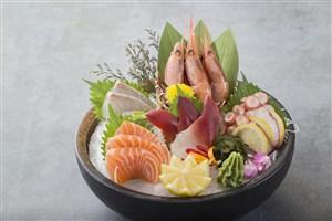 日本料理刺身海鲜日式寿司冷盘美食图片