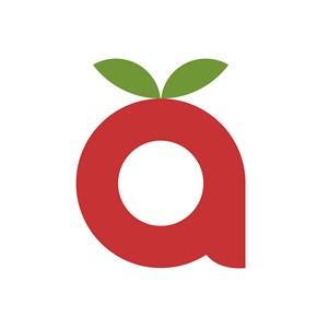 水果字母A标志图标矢量logo素材