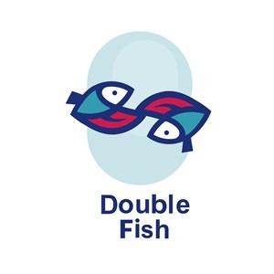 双鱼标志图标矢量logo素材