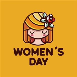 妇女节标志图标矢量logo设计素材