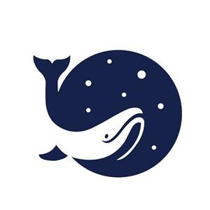 鱼星空标志图标矢量logo素材