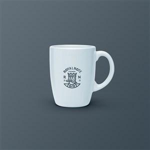 咖啡杯水杯贴图样机