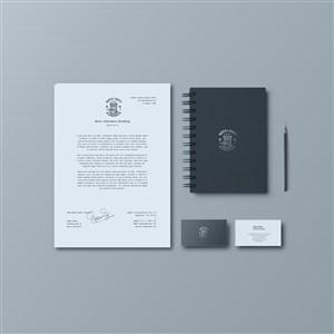文档笔记本名片贴图样机