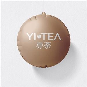 奶茶店VI气球样机
