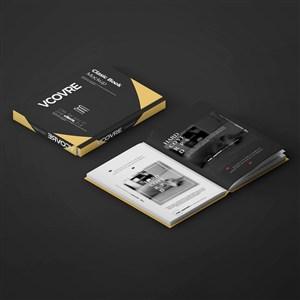 打开的书籍和书籍封面贴图样机