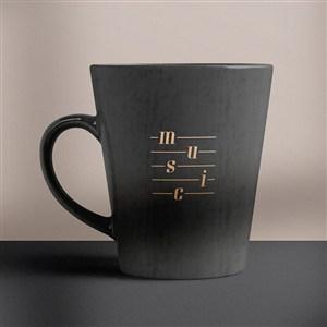 音乐品牌全套VI水杯咖啡杯样机