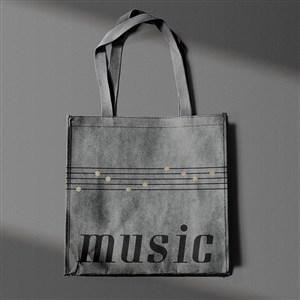 音乐品牌全套VI手提袋贴图样机