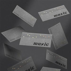 音乐品牌全套VI门票贴图样机