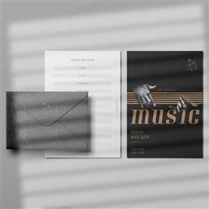 音乐品牌全套VI样机