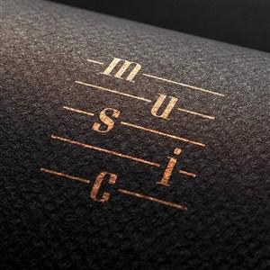 音乐品牌全套logo样机