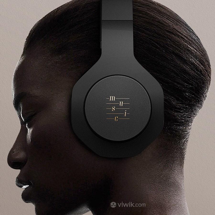 音乐品牌全套VI耳机贴图样机