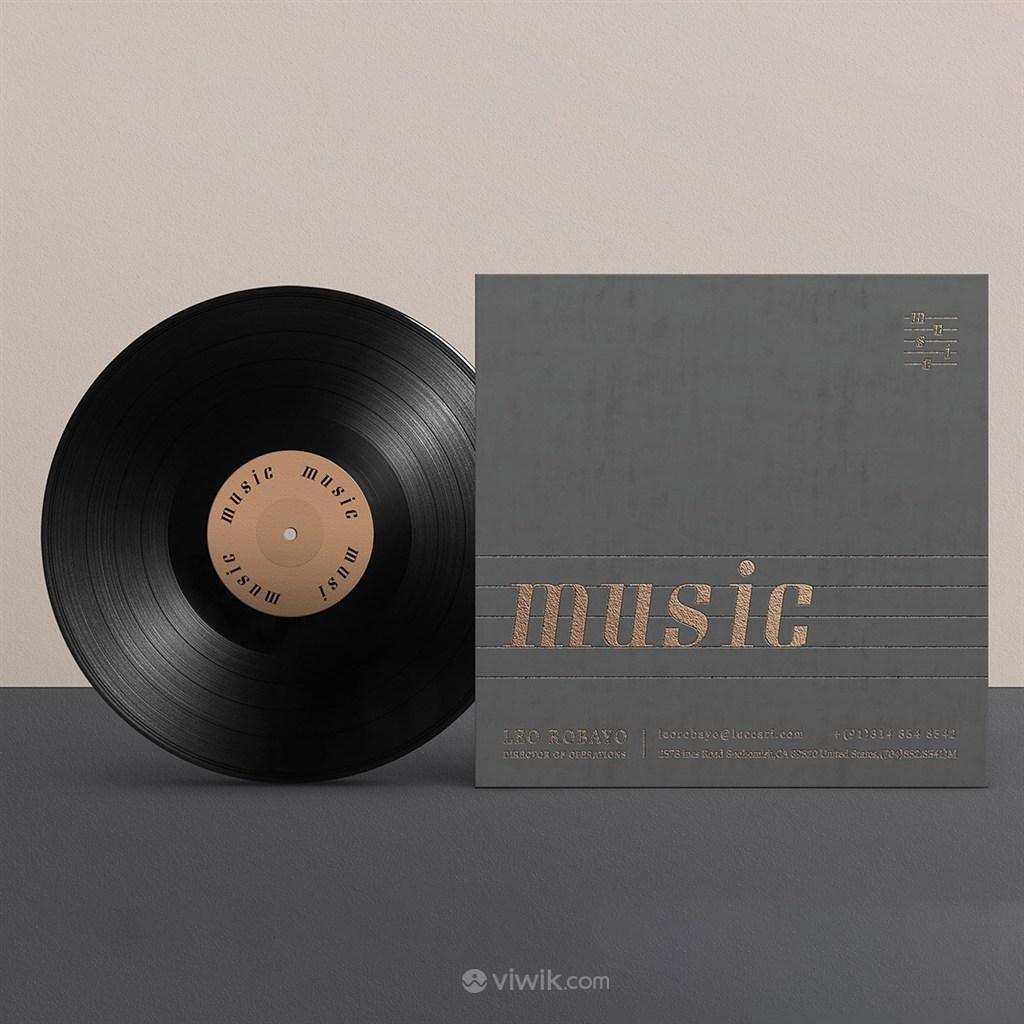 音乐品牌全套CD贴图样机
