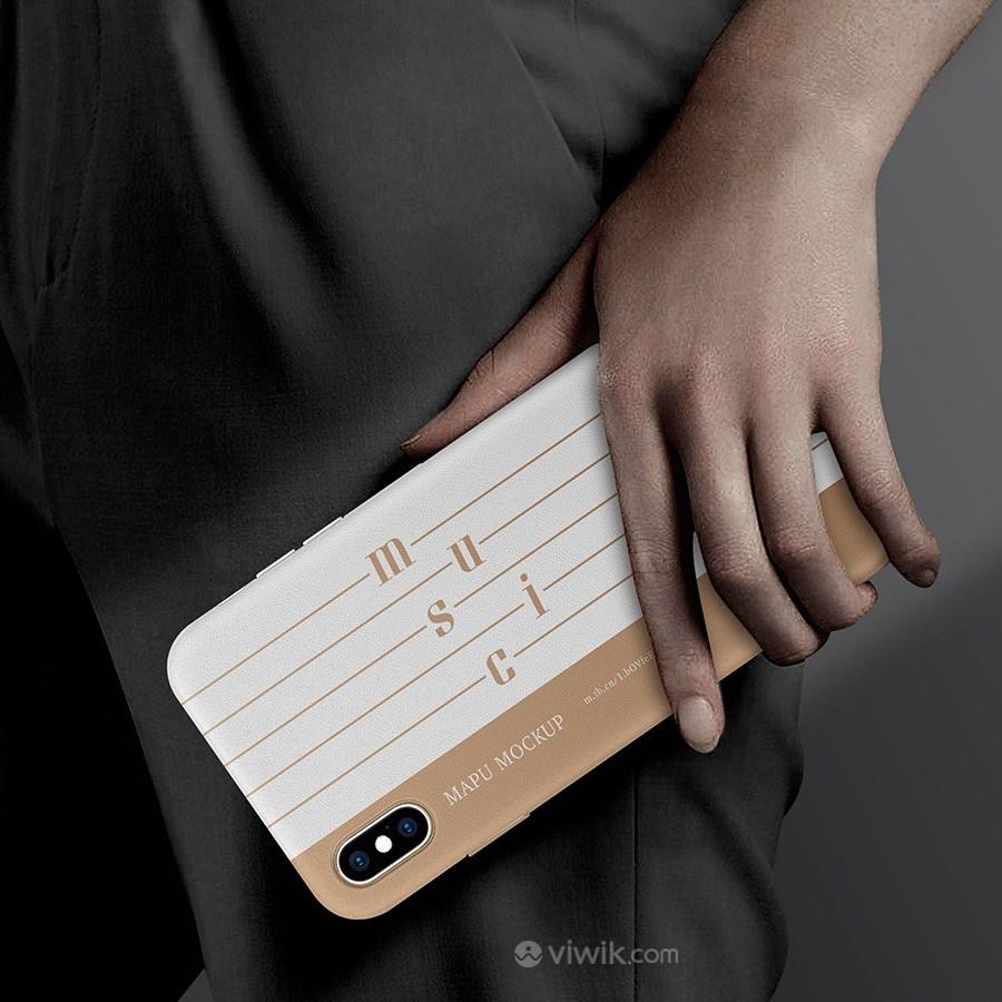 音乐品牌全套VI手机贴图样机