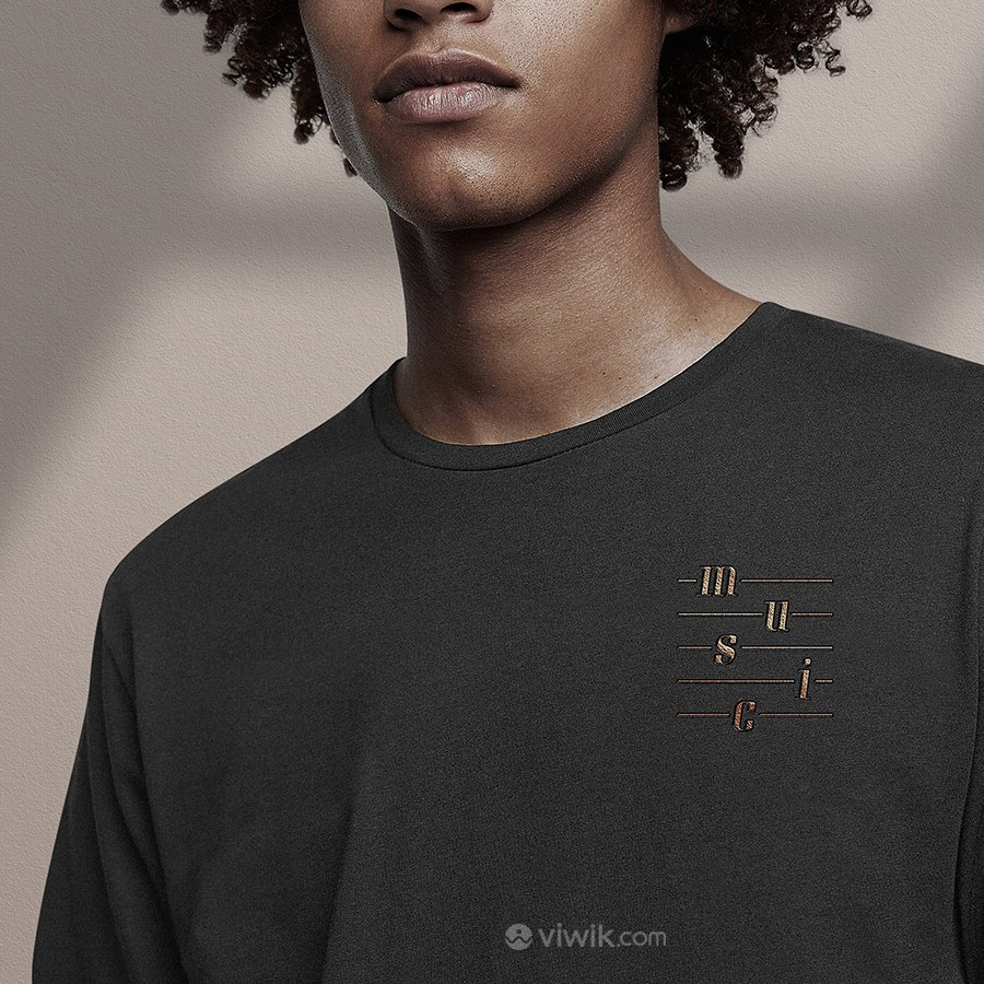 音乐品牌全套VI文化衫T恤贴图样机