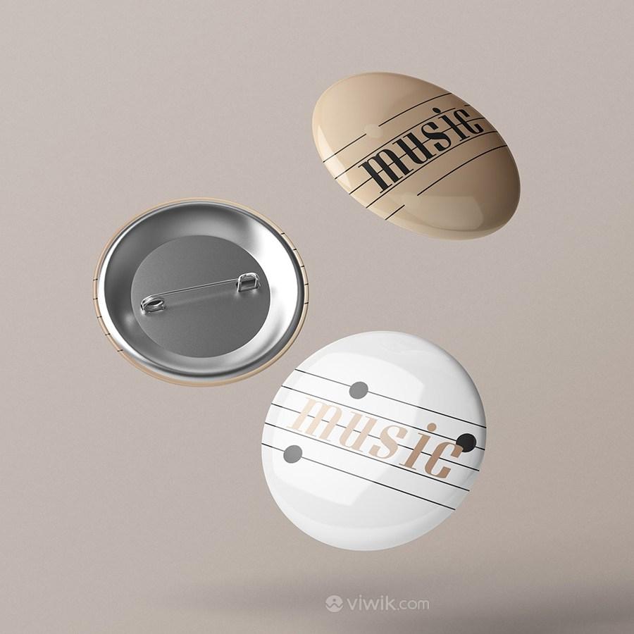 音乐品牌全套VI徽章贴图样机