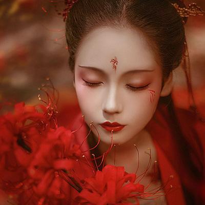曼珠沙华古装古典汉服美女图片