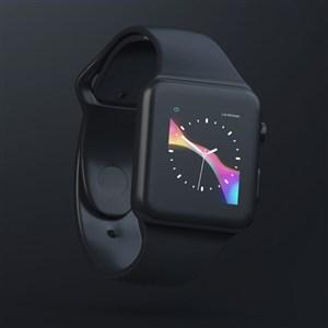 黑色Watch贴图样机