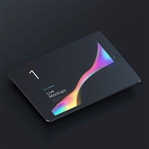 黑色ipad平板电脑贴图样机