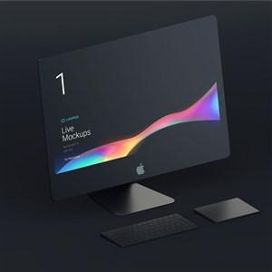 黑色iMac贴图样机