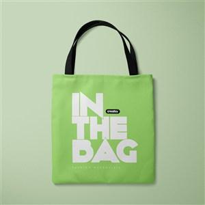 绿色环保购物袋贴图样机