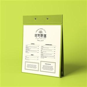 中式餐厅vi点餐牌贴图样机