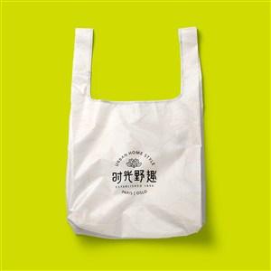中式餐厅vi打包袋贴图样机