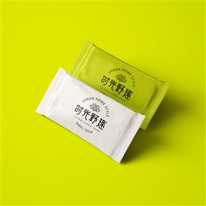 中式餐厅vi湿巾贴图样机