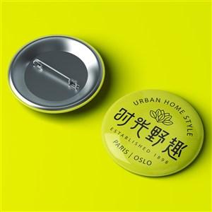 中式餐厅vi徽章贴图样机