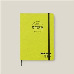 中式餐厅vi笔记本贴图样机