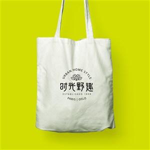 中式餐厅vi手提袋贴图样机