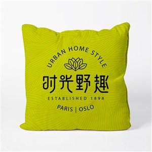 中式餐厅VI抱枕贴图样机