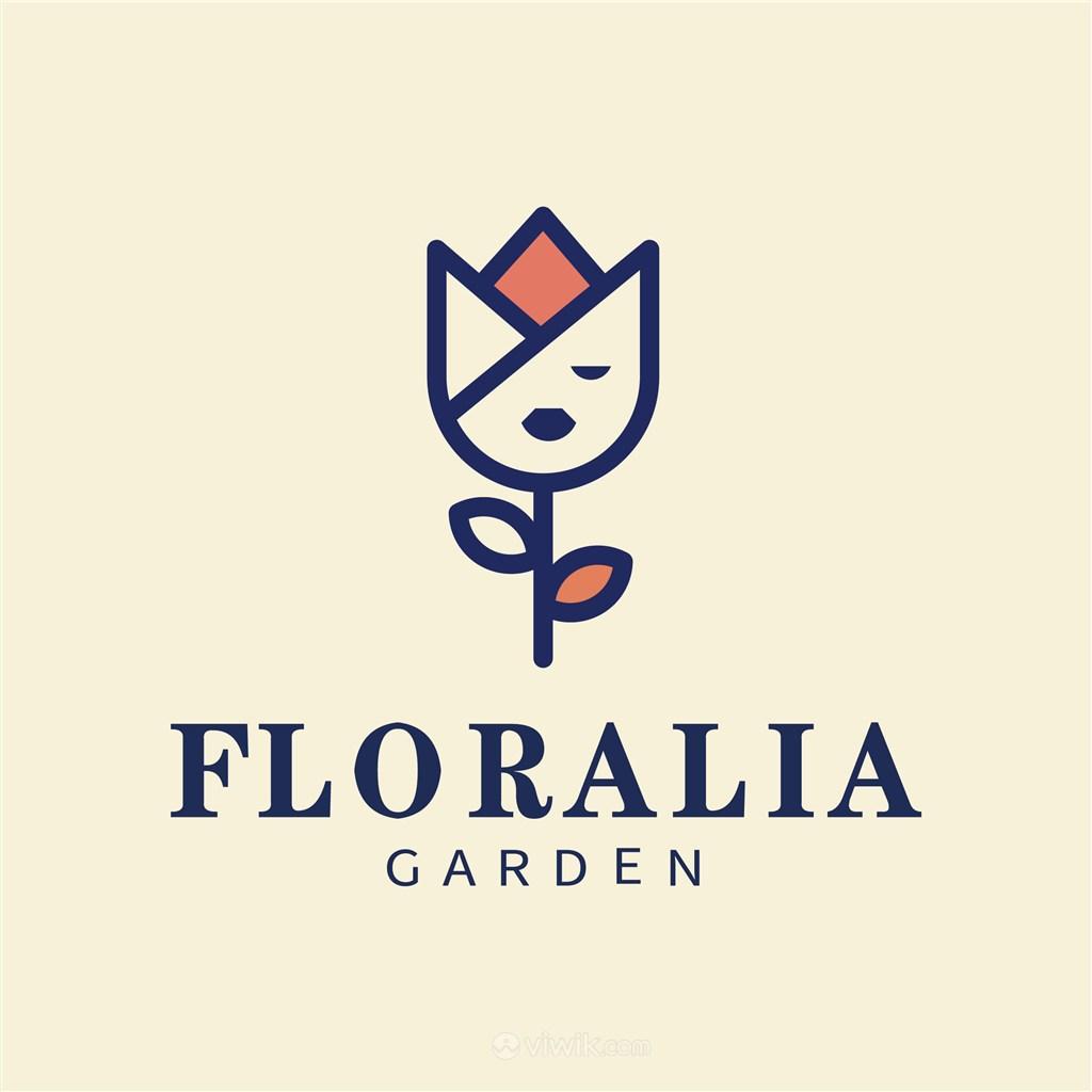 花朵人脸标志图标美容医疗矢量logo素材